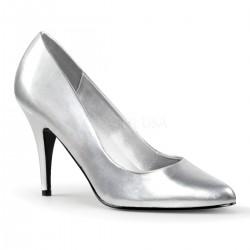 Pantofi cu toc mediu marimi mari VANITY 420 argintii