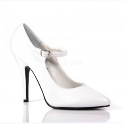 Pantofi SEDUCE 440 Alb Piele