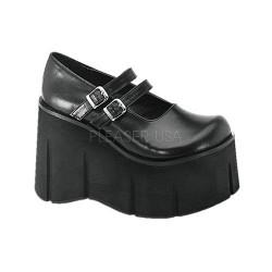 Pantofi stil gotic demonia talpa lata KERA 08