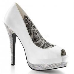 Pantofi BELLA 12 R Satin Alb