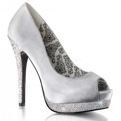 Pantofi BELLA 12 R Satin Silver