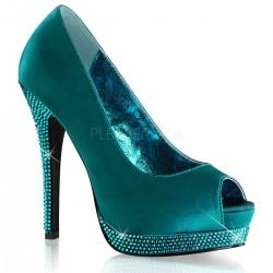 Pantofi BELLA 12 R Satin Turquoise