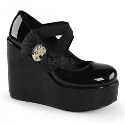 Pantofi stil gotic demonia lac POISON 02