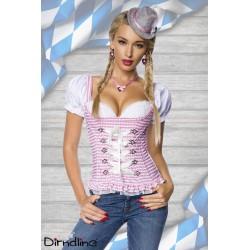 Bluza corset Dirdnl oktoberfest berar festivalul berii balul vanatorilor 0031