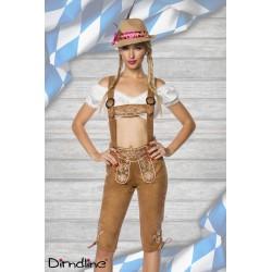 Costum oktoberfest pantalon balul vanatorilor festivalul berii Dirndl 0027 Maro