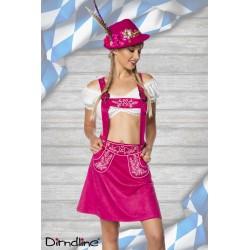 Costum Oktoberfest balul vanatorilor berar festivalul berii 0029 Roz