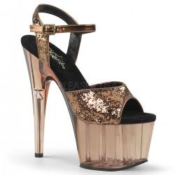 Sandale papuci de club animatoare cu toc inalt ADORE 710 GT
