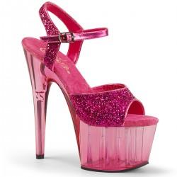 Sandale papuci dansatoare cu toc inalt piele ADORE 710 GT