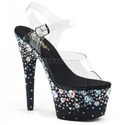 Sandale cu toc inalt papuci dansatoare ADORE 708 ROSE
