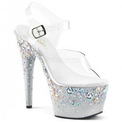 Sandale cu toc inalt papuci dans la bara ADORE 708 ROSE