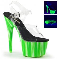 Sandale cu toc inalt papuci dans la bara ADORE 708 UVP