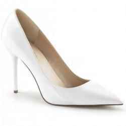 Pantofi albi de mireasa office stiletto CLASSIQUE 20