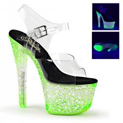 Sandale cu platforma neon papuci dans la bara CRYSTALIZE 308 PS