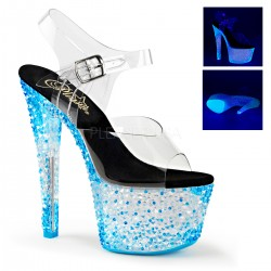 Sandale cu toc inalt papuci sexy club CRYSTALIZE 308 PS