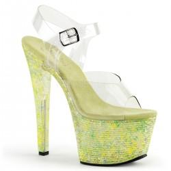 Sandale cu platforma inalta neon papuci de club CRYSTALIZE 308 TL