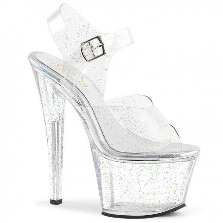 Sandale cu platforma transparenta papuci sexy club SKY 308 MMG