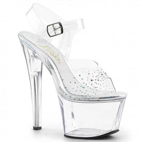 Sandale cu platforma transparenta papuci dansatoare SKY 308 SD