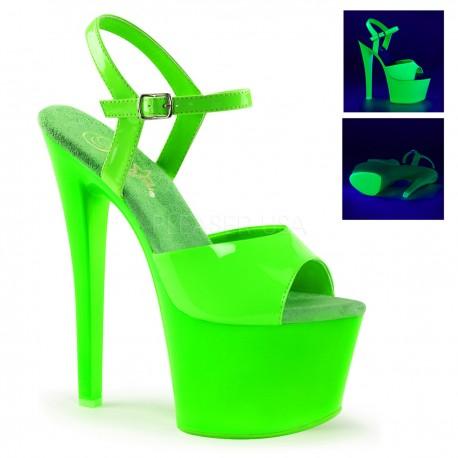 Sandale cu platforma inalta neon club SKY 309 UV
