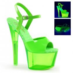 Sandale cu platforma transparenta papuci sexy club SKY 309 UVT