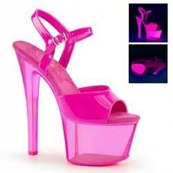 Sandale cu platforma transparenta papuci dansatoare SKY 309 UVT
