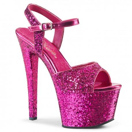 Sandale cu platforma inalta papuci sexy club SKY 310 LG