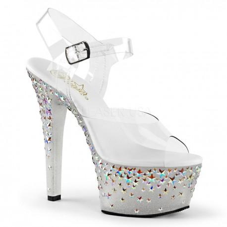 Sandale cu platforma argintie ASPIRE 608 STPL