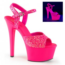 Sandale roz neon sexy club papuci comozi ASPIRE 609 G