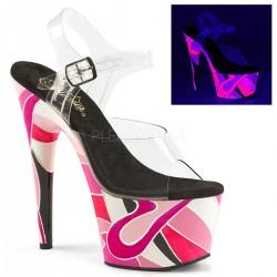 Sandale cu platforma culoare neon papuci streaptease ADORE 708 UVP