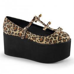Pantofi cu platforma gotic lolita demoniaCLICK 08