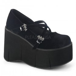 Pantofi stil gotic demonia talpa lata catifea KERA 08