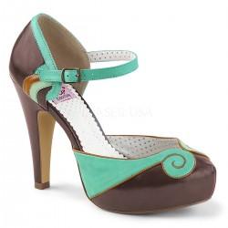 Pantofi pin up rockabilly retro toc mediu BETTIE 17
