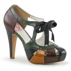 pantofi toc mediu pin up rockabilly retro BETTIE 18