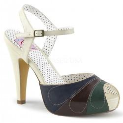 pantofi rockabilly pin up retro toc mediu BETTIE 27