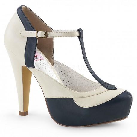Pantofi pin up rockabilly toc mediu retro BETTIE 29