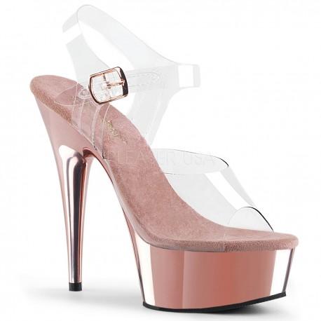 Sandale cu platforma mica comode silicon DELIGHT 608