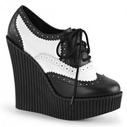 Pantofi gotic demonia piele talpa ortopedica CREEPER 307