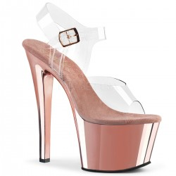 Sandale cu toc inalt papuci sexy club SKY 308