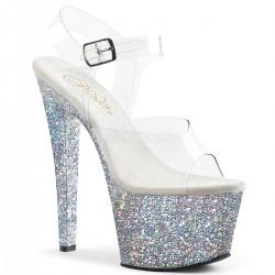 Sandale cu platforma inalta papuci sexy  club SKY 308 LG