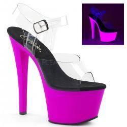 Sandale cu platforma transparenta papuci dansatoare SKY 308 UV