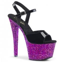 Sandale cu platforma inalta papuci sexy club SKY 309 HQ