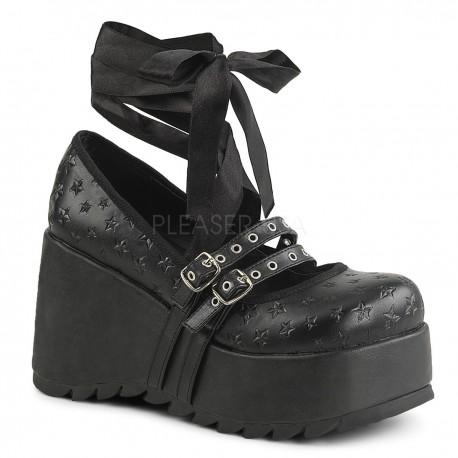 Pantofi stil gotic, demonia piele talpa lata SCENE 20