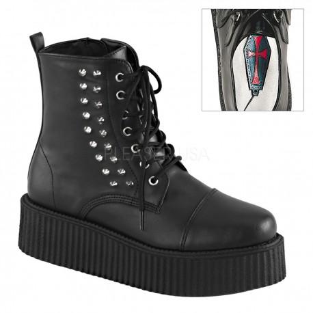 Pantofi V-CREEPER 573 piele stil gotic demonia talpa lata