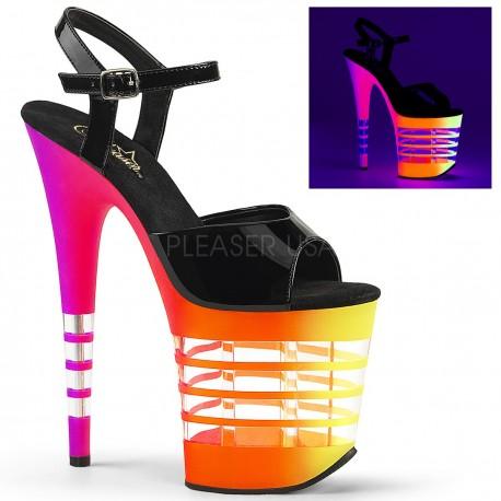 Sandale cu toc inalt papuci streaptease FLAMINGO 809 UVLN