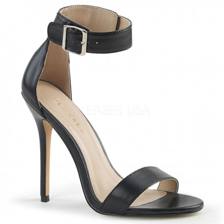 Sandale stiletto cu toc inalt elegante mrimi mari AMUSE 10 Negru