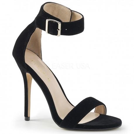 Sandale stiletto cu toc inalt elegante marimi mari AMUSE 10 Negru