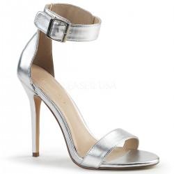 Sandale stiletto cu toc inalt elegante comode AMUSE 10 Negru
