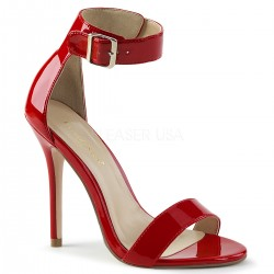 Sandale stiletto cu toc inalt marimi mari comode AMUSE 10 Negru