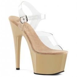 Sandale cu platforma inalta silicon papuci ADORE 708