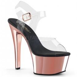 Sandale cu platforma transparenta papuci dans la bara ASPIRE 608