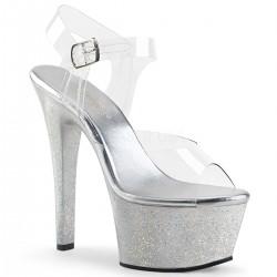 Sandale cu platforma transparenta papuci dansatoare ASPIRE 608 MG